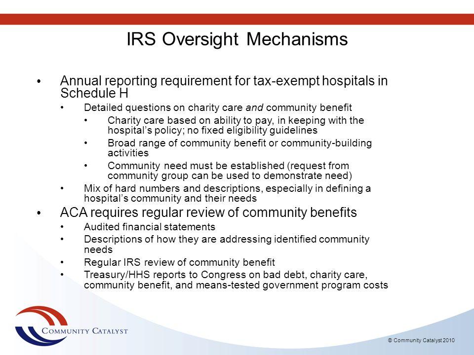 IRS Oversight Mechanisms