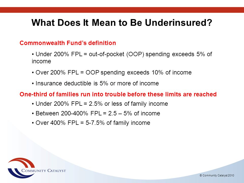 What Does It Mean to Be Underinsured