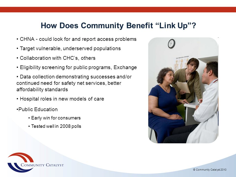 How Does Community Benefit Link Up