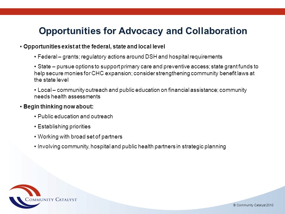 Opportunities for Advocacy and Collaboration