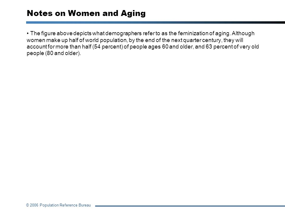 Notes on Women and Aging