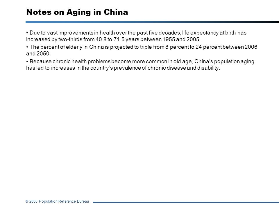 Notes on Aging in China