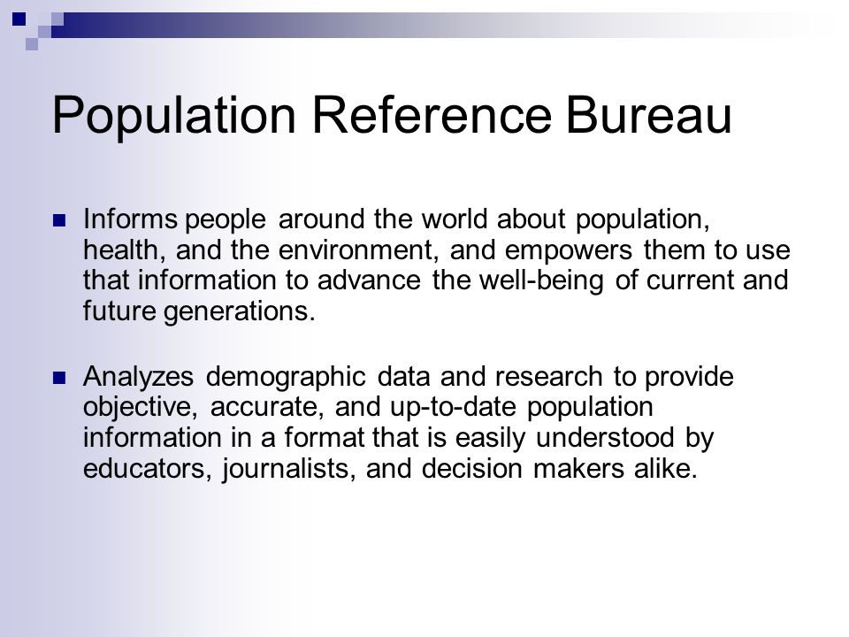 Population Reference Bureau