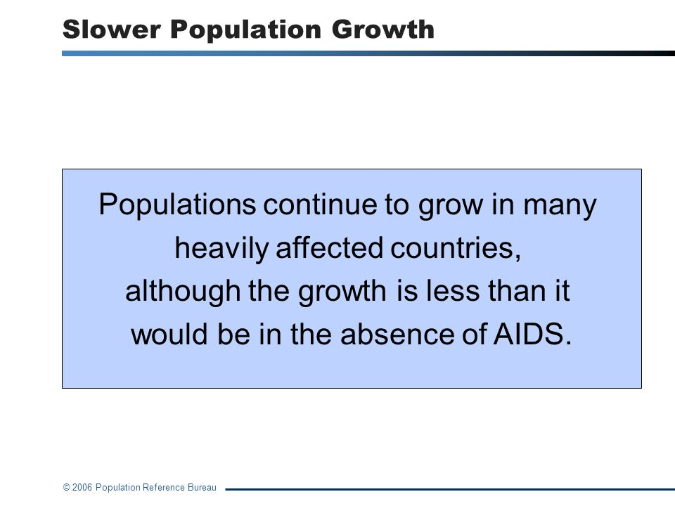 Slower Population Growth