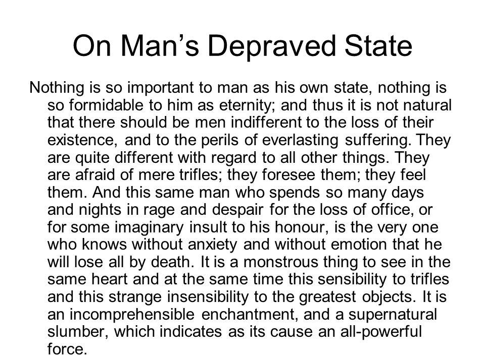On Man's Depraved State