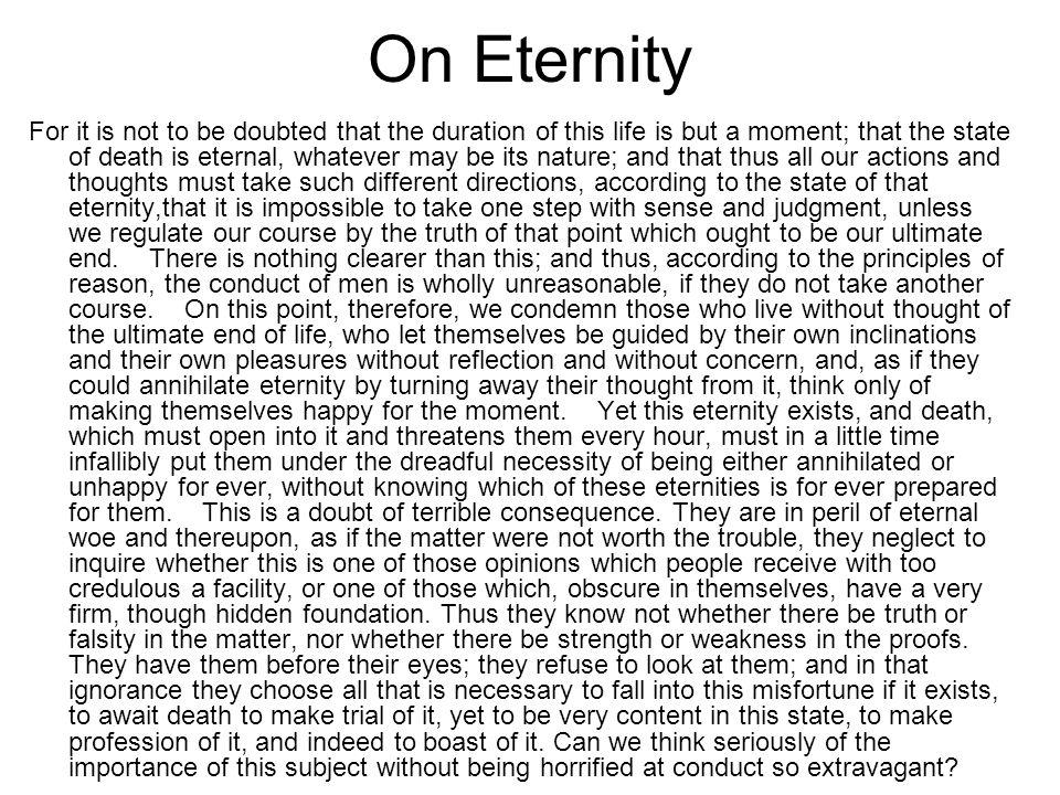 On Eternity