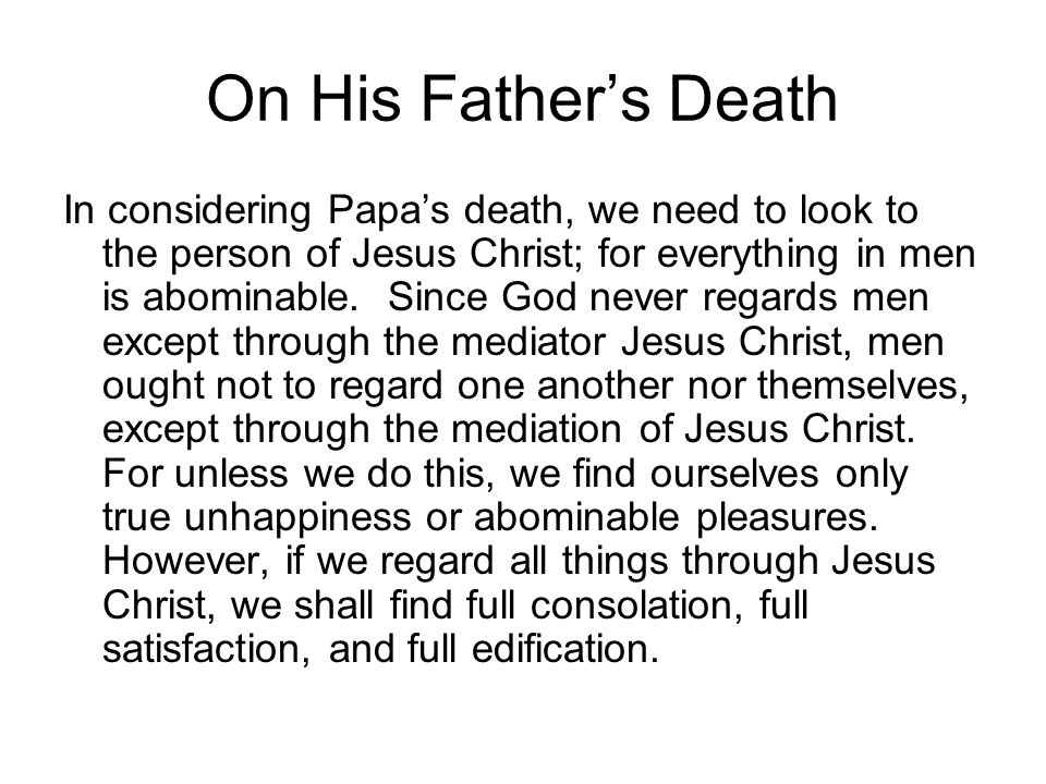 On His Father's Death