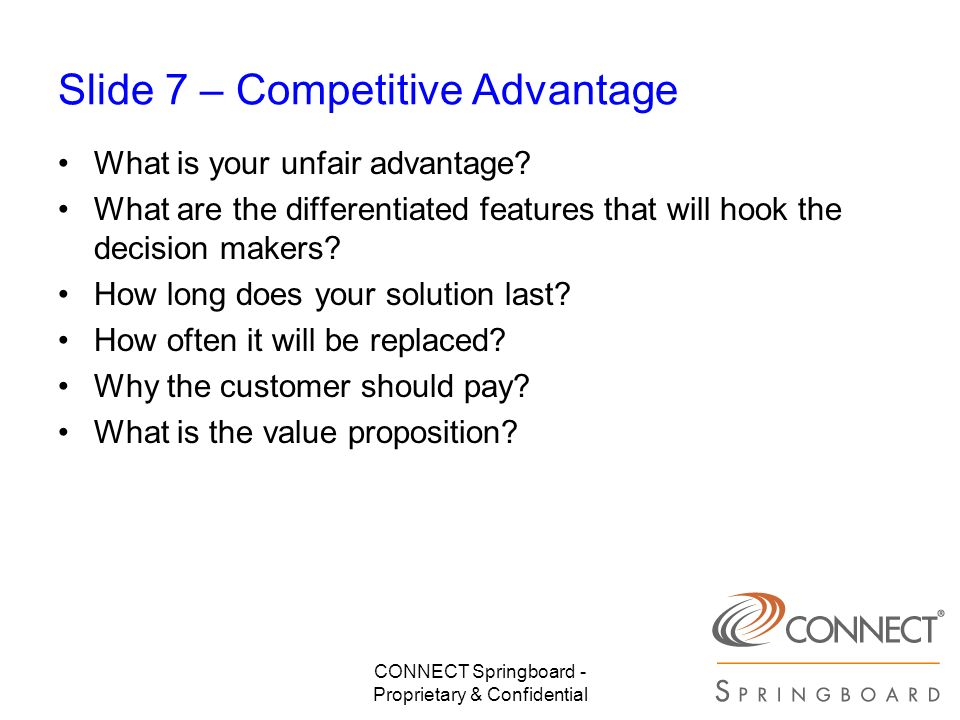 Slide 7 – Competitive Advantage
