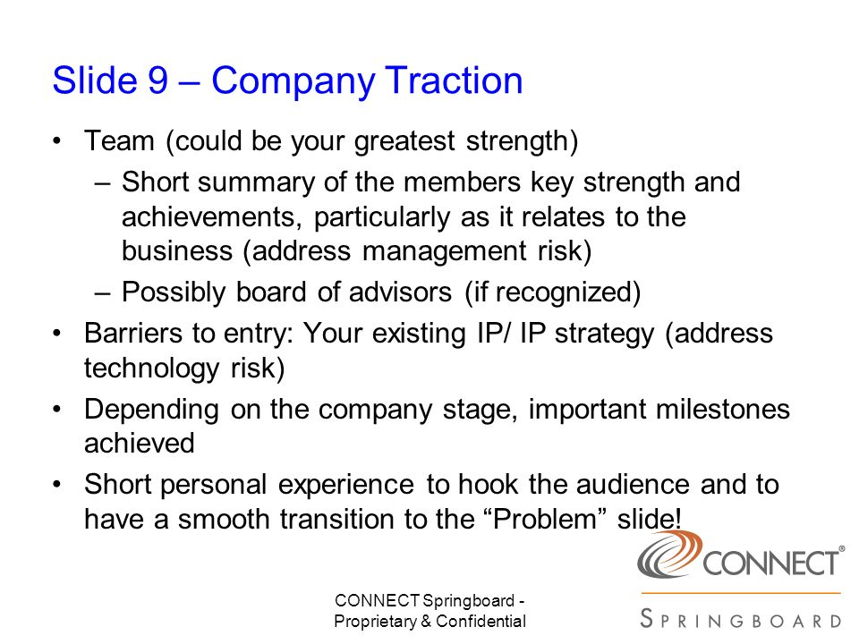 Slide 9 – Company Traction