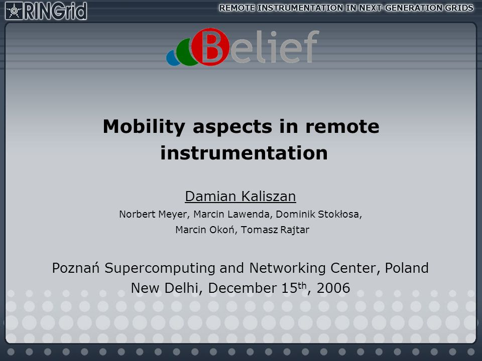 Mobility aspects in remote
