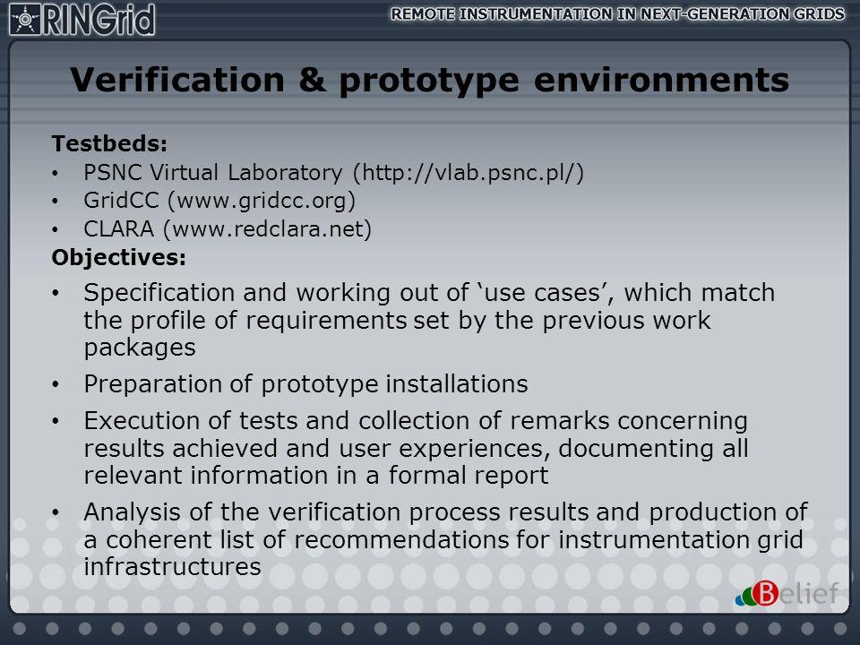Verification & prototype environments