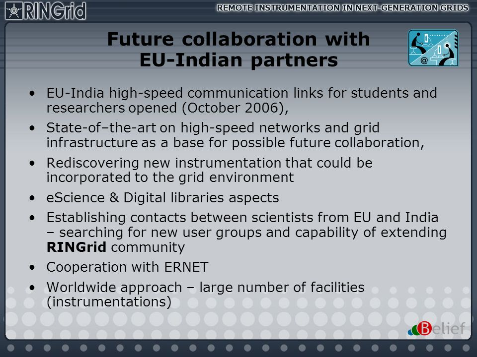 Future collaboration with EU-Indian partners