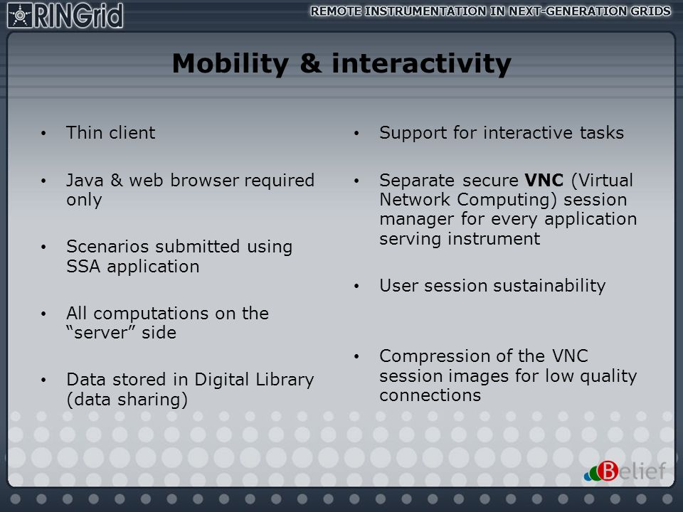 Mobility & interactivity
