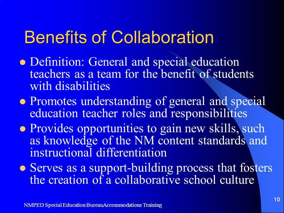 Collaborative Teaching Reaping The Benefits : How to choose and use accommodations for students with