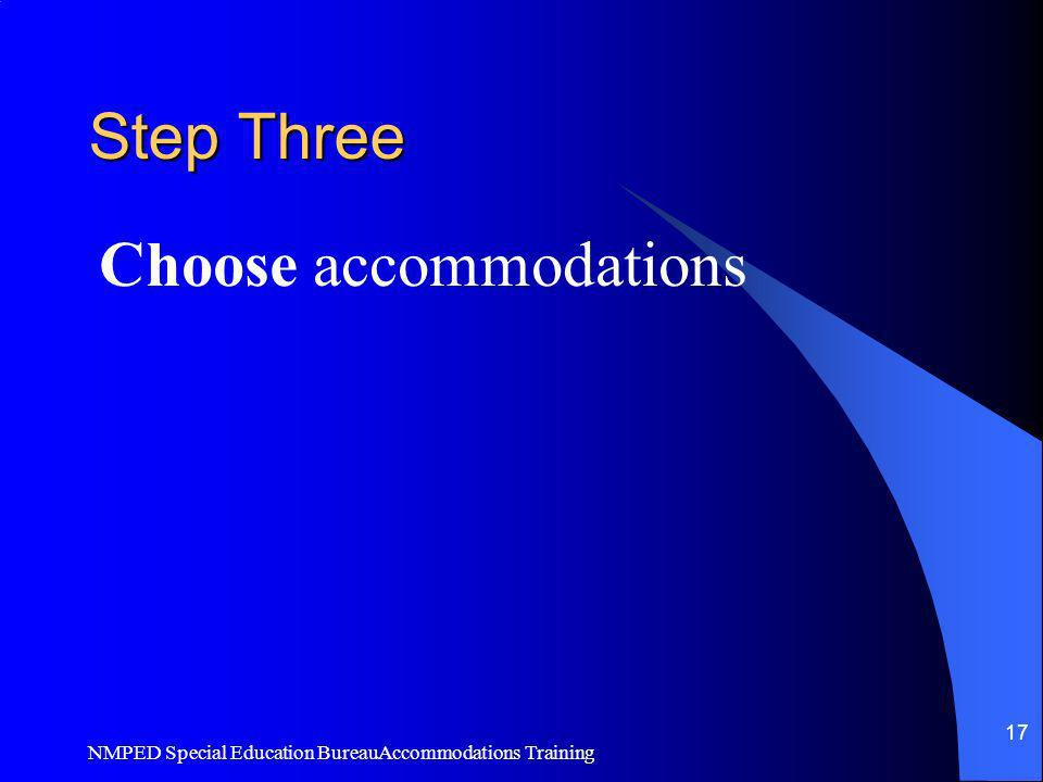 Choose accommodations