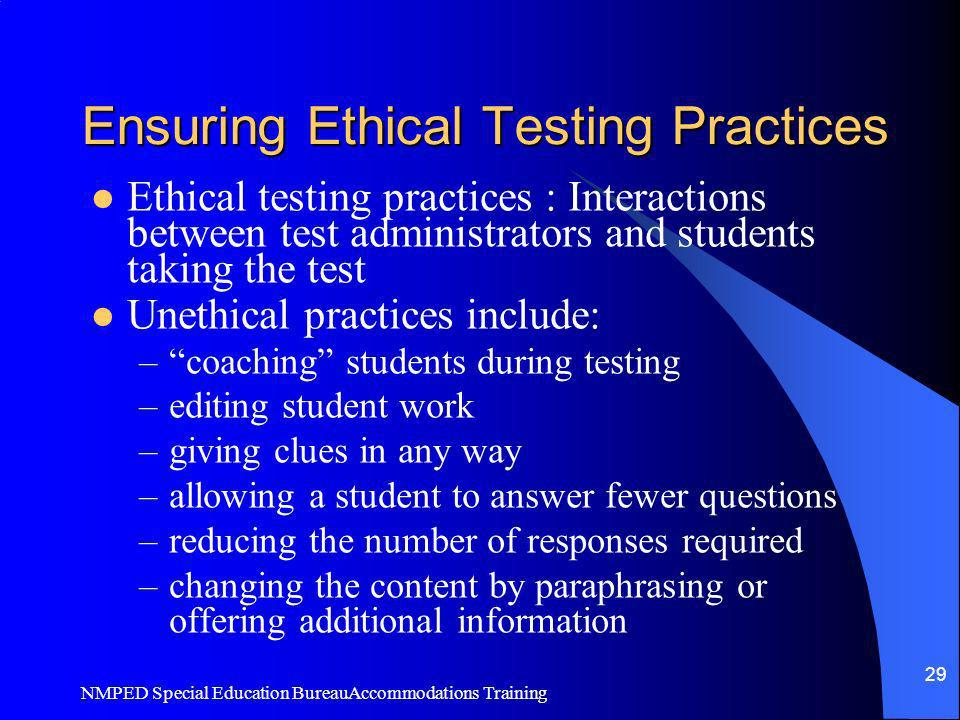 Ensuring Ethical Testing Practices