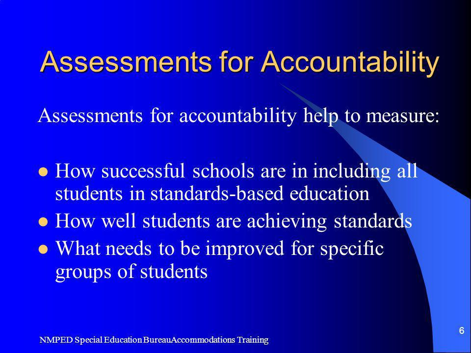 Assessments for Accountability