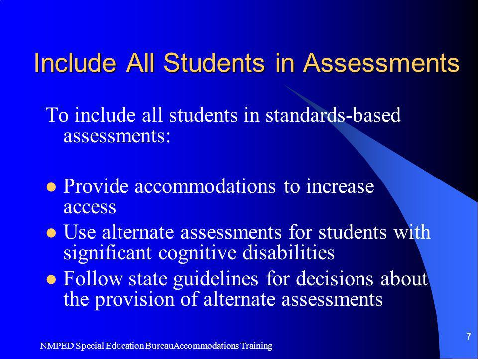 Include All Students in Assessments