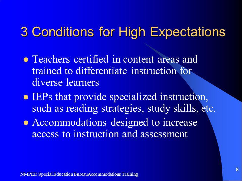3 Conditions for High Expectations