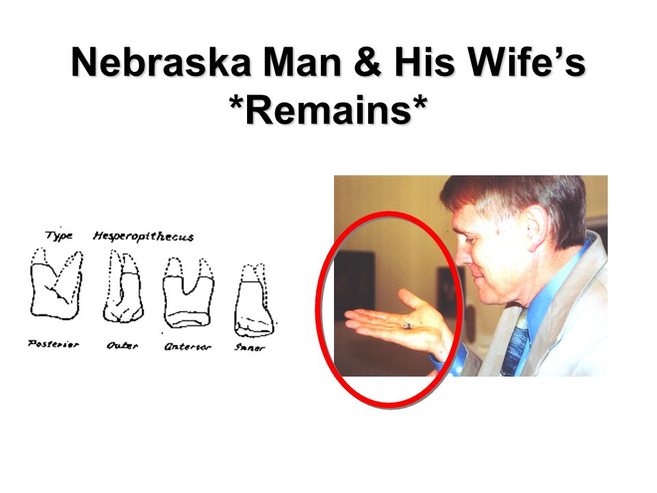 Nebraska Man & His Wife's *Remains*