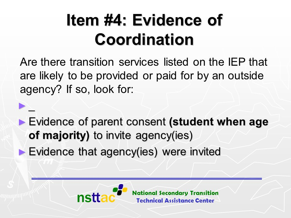 Item #4: Evidence of Coordination