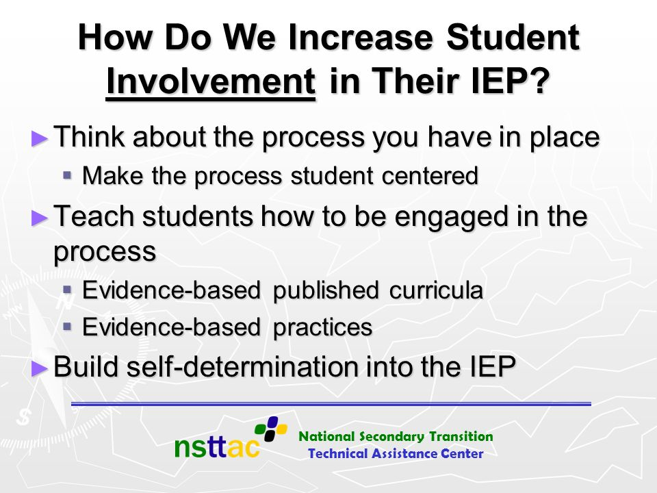 How Do We Increase Student Involvement in Their IEP