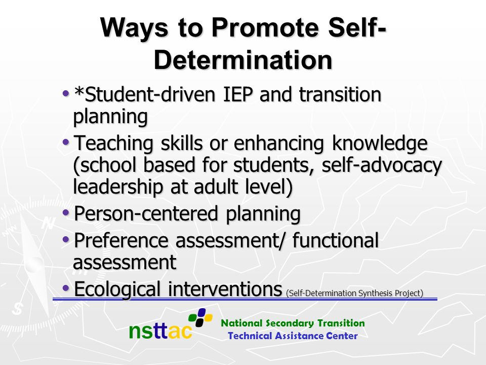 Ways to Promote Self-Determination