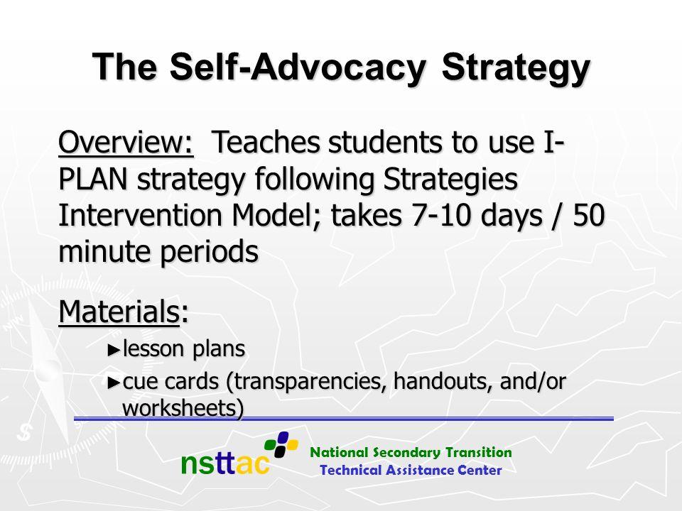 The Self-Advocacy Strategy