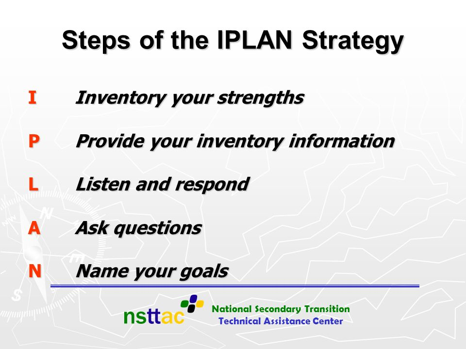 Steps of the IPLAN Strategy
