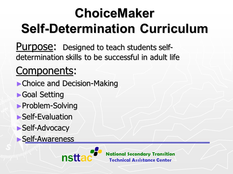 ChoiceMaker Self-Determination Curriculum