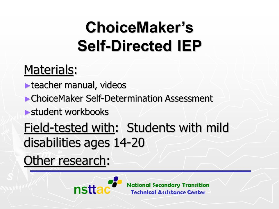 ChoiceMaker's Self-Directed IEP