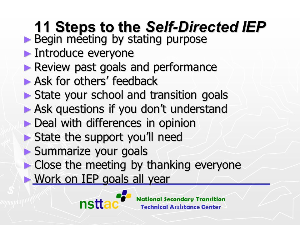11 Steps to the Self-Directed IEP