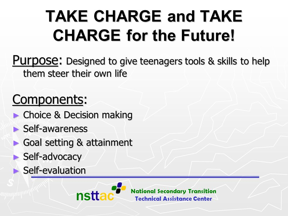 TAKE CHARGE and TAKE CHARGE for the Future!