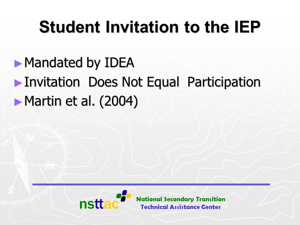Student Invitation to the IEP