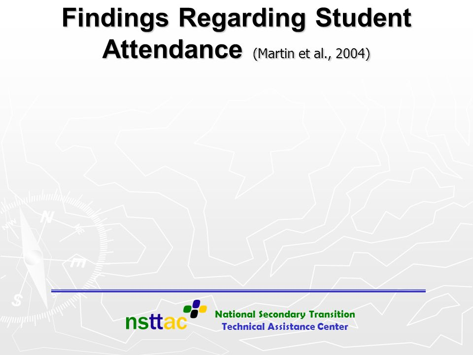 Findings Regarding Student Attendance (Martin et al., 2004)
