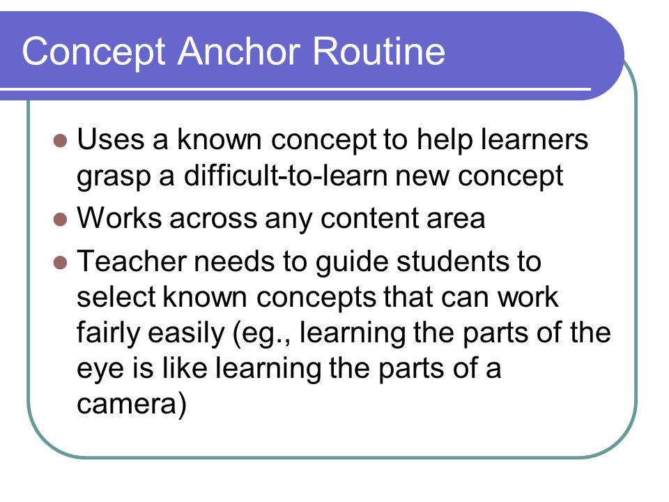 Concept Anchor Routine