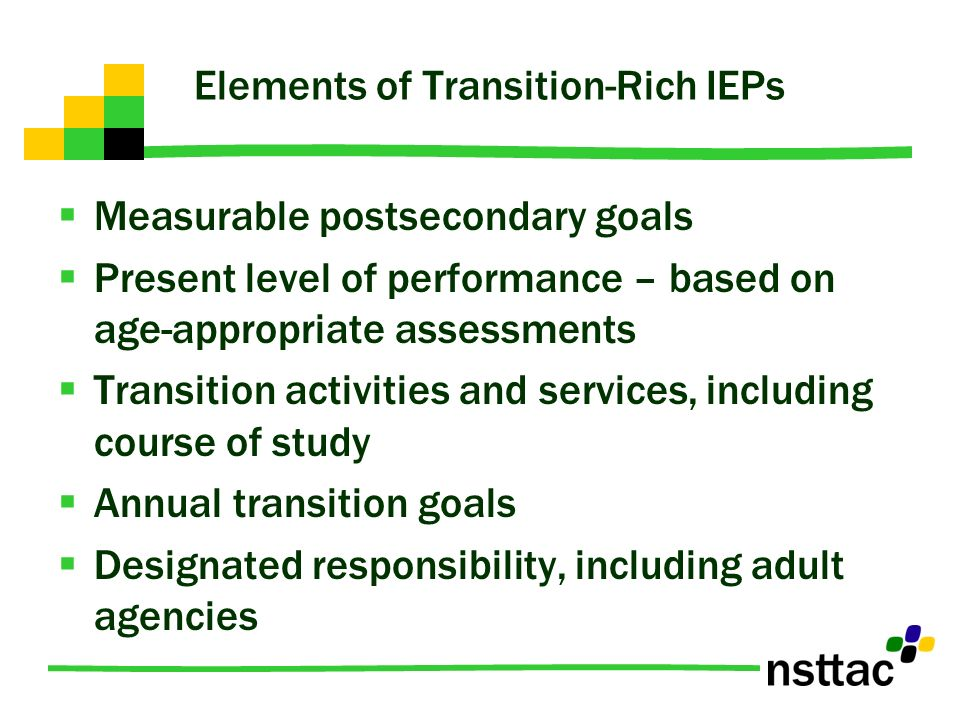 Elements of Transition-Rich IEPs