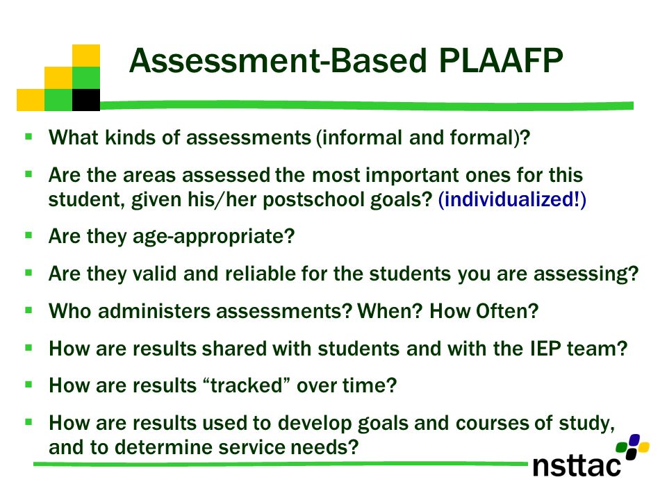 Assessment-Based PLAAFP