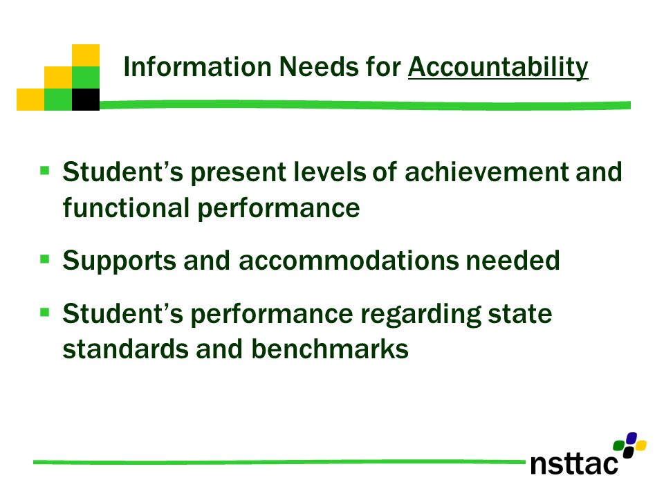 Information Needs for Accountability