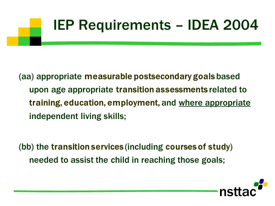 IEP Requirements – IDEA 2004