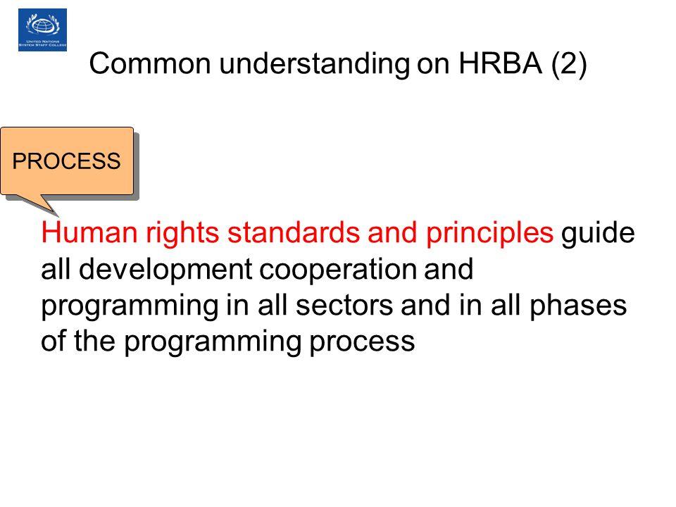 Common understanding on HRBA (2)