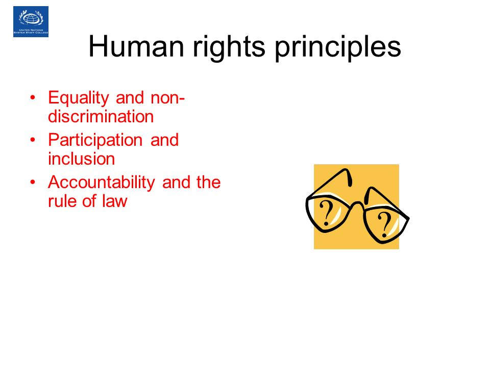 Human rights principles