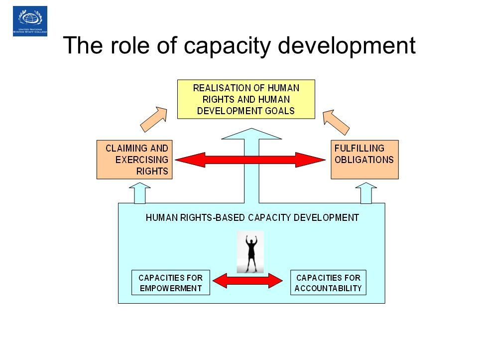 The role of capacity development