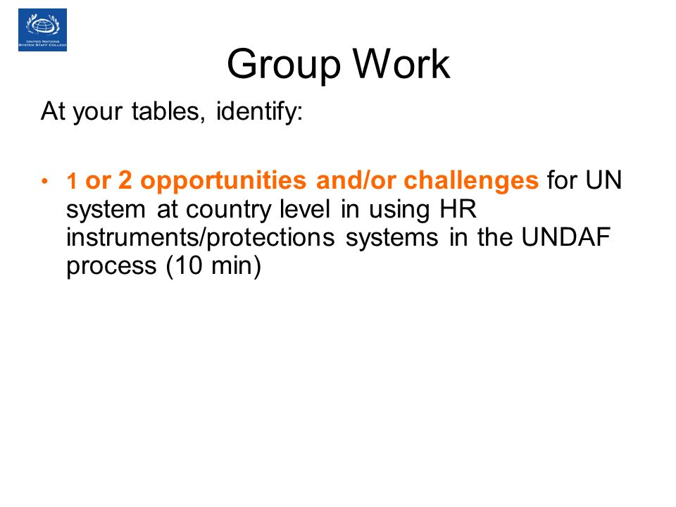Group Work At your tables, identify: