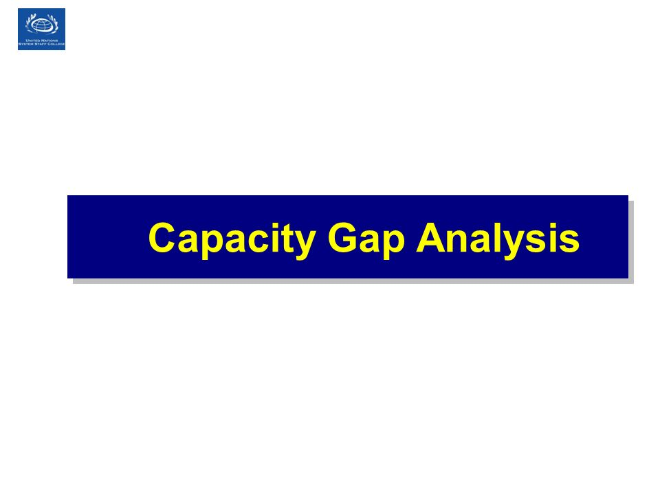 Capacity Gap Analysis 41