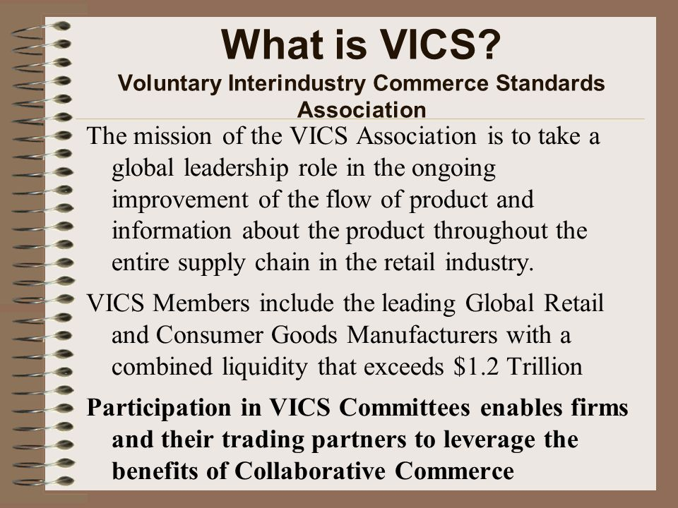 What is VICS Voluntary Interindustry Commerce Standards Association