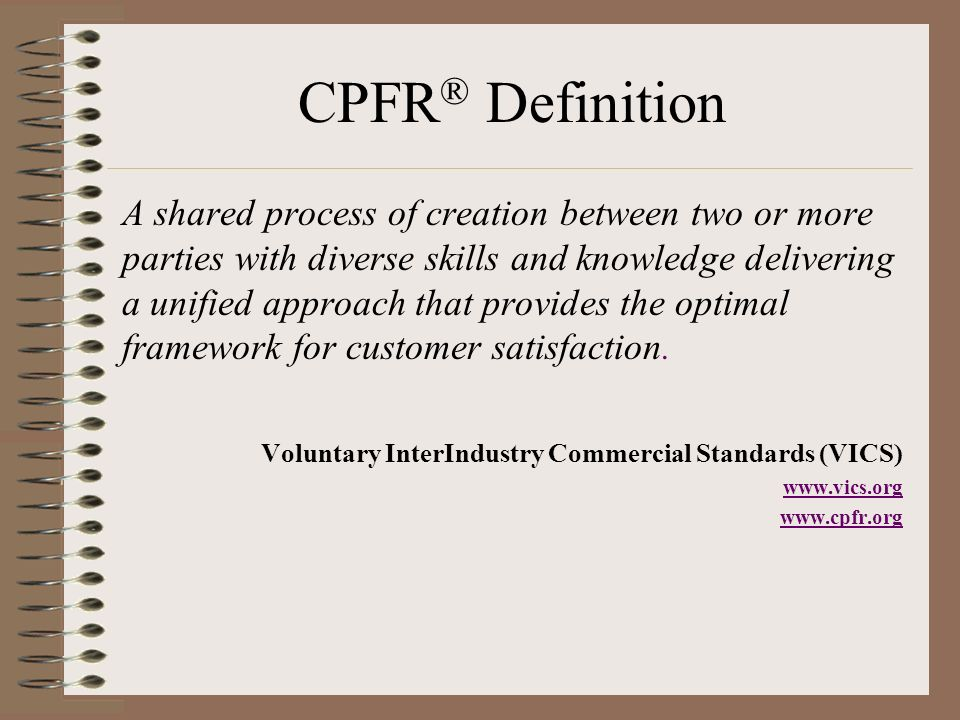CPFR® Definition