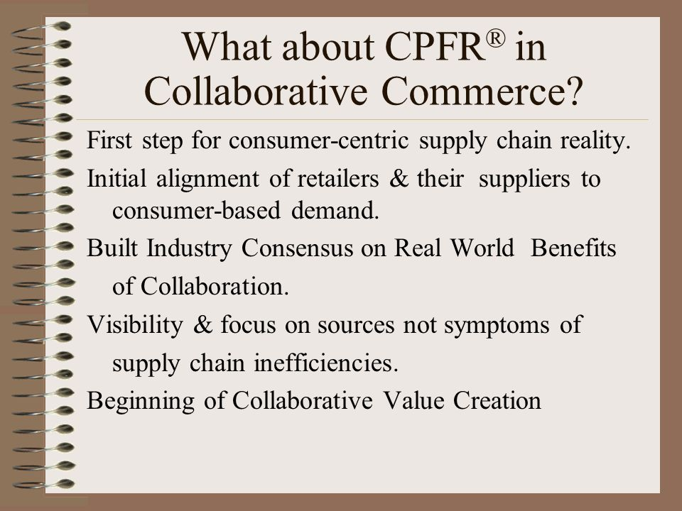 What about CPFR® in Collaborative Commerce