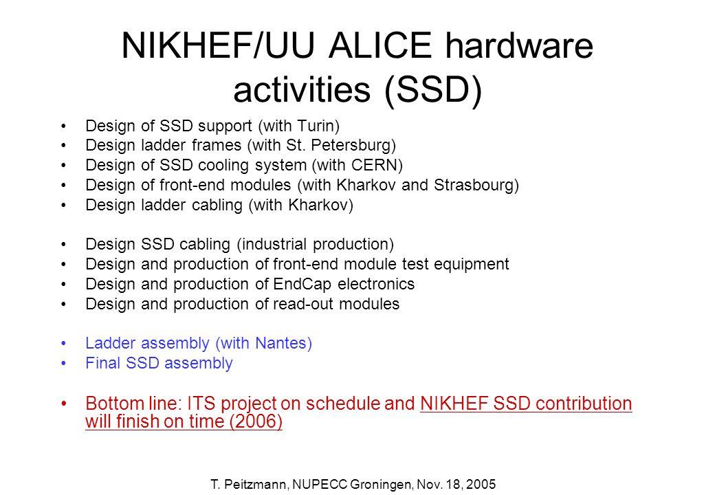 NIKHEF/UU ALICE hardware activities (SSD)