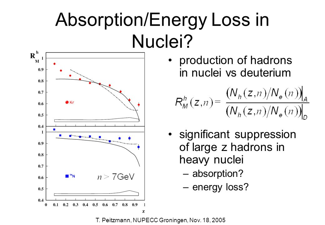 Absorption/Energy Loss in Nuclei
